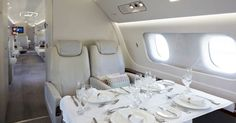 The incredible decadence of the Lineage 1000E private jet is only for the spectacularly wealthy to travel in