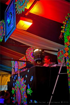 Ozora Festival, 2009. Live performances to accompany audio artists, throughout a tented music festival in Ozora, Hungary. (Photographs by Boris B. Voglar @ http://500px.com/billy)