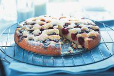 Tvarohový koláč s ostružinami Waffles, Pie, Treats, Breakfast, Sweet, Food, Cakes, Torte, Goodies