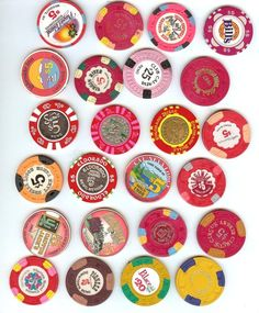 vintage casino chips totally gonna turn ours into magnets