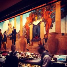 """Maxfield Parrish """"Old King Cole"""" (Detail) from @The St. Regis New York Bar. #Art #InteriorDesign"""