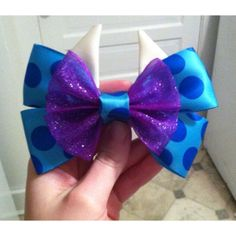 LAST ONE Sulley (Monsters Inc.) Inspired Bow ($7) found on Polyvore