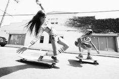 Old skool skater bitches with steeze