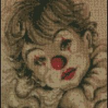 Gallery.ru / Все альбомы пользователя 363636 Ronald Mcdonald, Cross Stitch, Album, Gallery, Kids, Fictional Characters, Clowns, Baby, Dots