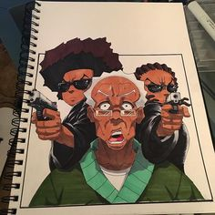 Unique Advices How To Draw Boondocks Characters Create You A Custom Boondocks Character By Ezragfx Dope Cartoon Art, Dope Cartoons, Black Cartoon, Cartoon Drawings, Art Drawings, Boondocks Drawings, Boondocks Characters, The Boondocks, African American Art