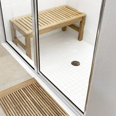 The Westminster Teak Shower Seat is one of our most versatile pieces. It can be used as a teak shower seat, footrest, ottoman or an end table. All of our teak shower seats come with our Lifetime Warranty. Wood Shower Bench, Shower Seat, Spa Shower, Shower Benches, Westminster Teak, Teak Outdoor Furniture, Furniture Nyc, Plywood Furniture, Modern Furniture