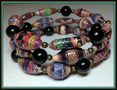 I made this from a pic from National Geographic magazine.  See my work on Facebook/Laurindalee's Paper Bead Jewelry - Linda Myers Miller Patrick