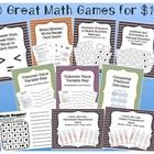 The ten math games included in this file are:  Kaboom - Improper Fractions to Mixed Numbers Kaboom - Adding and Subtracting Decimal Numbers Math Bo...