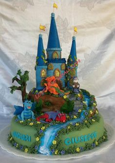 3D castle cake topper tutorial