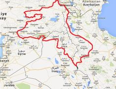 Contiguous Kurd lands. - Maps on the Web