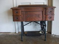 $80 old sewing cabinets are so cool