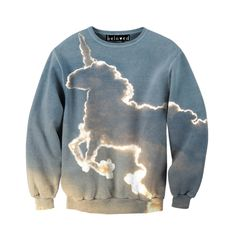 "belovedwear® presents the #UnicornCloud Sweatshirt. This ""all over"" print crewneck sweatshirt is made using a special sublimation technique to provide a vivid graphic image throughout the shirt. • 95%"
