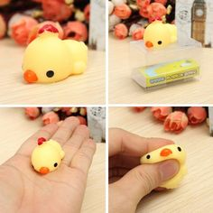 Mochi Chick Chicken Squishy Squeeze Cute Healing Toy Kawaii Collection Stress Reliever Gift Decor