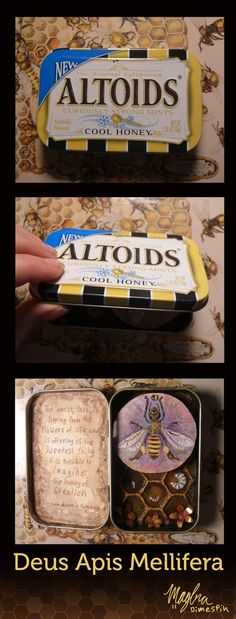 A miniature shrine: Deus Apis Mellifera by ~DimeSpin on deviantART