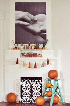 Autumn Fireplace Display