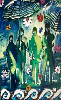 the Beatles painting by Kimberly Dawn Clayton