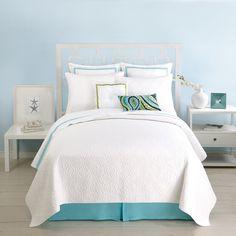 Trina Turk Santorini White Quilted Standard Pillow Sham