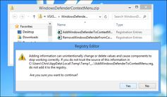 """How to Add """"Scan with Windows Defender"""" to the Context Menu in Windows 8"""