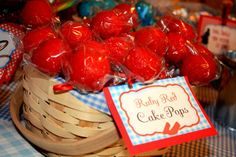 Ruby Red Wizard of Oz cake pops