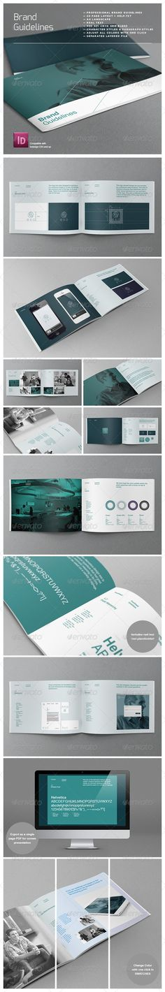 \\\ Manual de identidad Brand Logo Guidelines Template - Corporate Brochures \\\