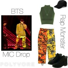 BTS Namjoon MIC Drop inspired outfit by melaniecrybabyz on Polyvore featuring polyvore, fashion, style and clothing