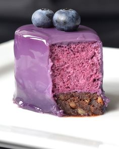 Blueberry Mousse Cake from Kaloria