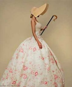 Modern Country Style: Romantic Red Faded Florals: Get The Look Click through for details. Bo Peep Dress, Modern Country Style, French Country, Fairytale Gown, Little Bo Peep, Traditional Fabric, Victorian Women, Look Fashion, Get The Look