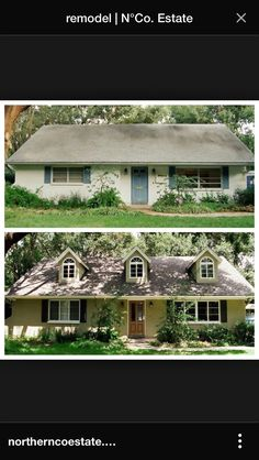 Before & after house