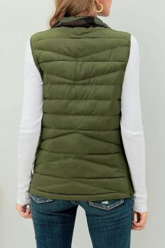 Winter Style // Complete a comfortable look this winter by having this army green reversible camo zip-up quilted puffer vest. Puffer Vest, Winter Style, Army Green, Camo, Zip Ups, Winter Fashion, Winter Jackets, Website, Camouflage