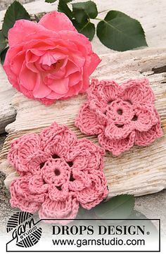 Rose flowers ~ free pattern ᛡ