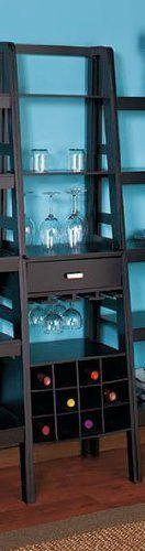 Black Ladder Shelf Storage with Wine Rack by LTD, http://www.amazon.com/dp/B005HJRCG4/ref=cm_sw_r_pi_dp_ucKtrb02EYSJK