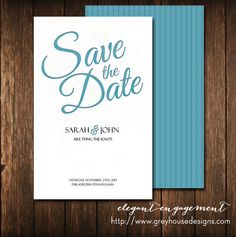 Elegant Engagement Printable Wedding Save the Date by zegreyhouse, $20.00