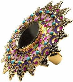 Mirror Ring by Manish Arora for Amrapali Collaboration at I Love Designer London