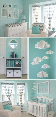 Aqua and Gray Chevron Nursery 2019 Mint & Chevron Baby Nursery. I love the clouds The post Aqua and Gray Chevron Nursery 2019 appeared first on Nursery Diy. Baby Boy Rooms, Baby Bedroom, Baby Boy Nurseries, Nursery Room, Kids Rooms, Baby Room Ideas For Boys, Baby Boy Bedroom Ideas, Baby Room Themes, Baby Girl Nursery Themes