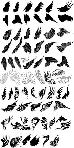 Neue Tattoo Designs Angel Wings Tat Ideen Source by creativbee Alas Tattoo, Back Tattoo, Tattoo Neck, Tattoo Small, Small Wing Tattoos, Shape Tattoo, Chest Tattoo, Sleeve Tattoos, Future Tattoos