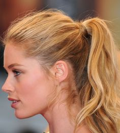 High ponytails are great for Fall or Winter because it keeps hair out of your face in windy weather and it's still a flirty style! They're the easiest hairstyle to recreate.