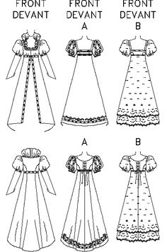 Jane Austen style Regency Empire Gown Cosplay Sewing Pattern, Butterick Sizes 10 - New, OOP! Historical Costume, Historical Clothing, Historical Dress, Costume Patterns, Dress Patterns, Costume Carnaval, Regency Dress, Regency Era, Gown Pattern