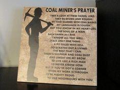 wv coal miners | Coal Miners Prayer Decorative Tile, Home Decor/Housewares ...