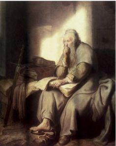~Saint Paul in Prison             Rembrandt Van Rijn~