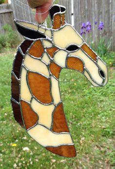 Stained Glass Giraffe Suncatcher