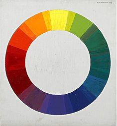 "Twentieth Century British Art by Robert Arthur Wilson: ""Colour Wheel, Colour Wheel, Painting Art, Oil On Canvas, Modern Art, Abstract Art, Artist, Color, Colour, Braces Color Wheel"