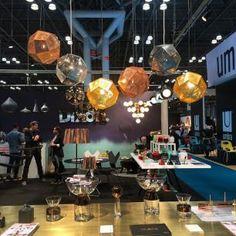 NY NOW | Tom Dixon showroom | Etch pendants