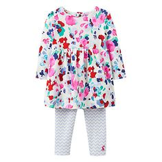 Buy Baby Joules Christina Floral Dress and Leggings Set, Multi from our Baby & Toddler Dresses & Skirts range at John Lewis & Partners. Baby Style, Joules, Toddler Dress, Hemline, Dress Skirt, Leggings, Long Sleeve, Floral, Pretty