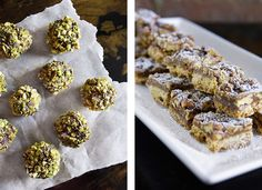 Holiday Entertaining: Chocolate Grand Marnier Truffles & Pecan Shortbread Squares | The Yellow Table