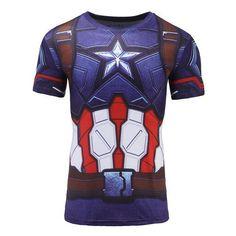 Black Panther T Shirt Captain America Civil War Tee 3D Printed T-shirts Men Avengers iron man Fitness Male Crossfit Tops 2017