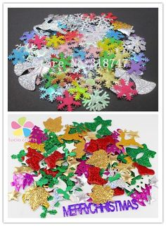 Aliexpress.com : Buy Lucia Crafts 10g/lot Mixed Colors Not Self adhesive Christmas Snowflake fabric party confetti scrapbooking sticker 14020001 from Reliable lot mix suppliers on Lucia Craft store
