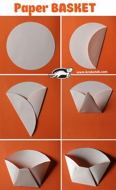 Paper BASKET You are in the right place about DIY Gifts cricut Here we offer you the most beautiful pictures … Homemade Gifts, Diy Gifts, Diy And Crafts, Crafts For Kids, Papier Diy, Diy Snacks, Paper Crafts Origami, Origami Wall Art, Origami Fish