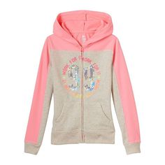Girls 7-16 & Plus Size SO® Colorblock Sequin Graphic Hoodie, Girl's, Size: