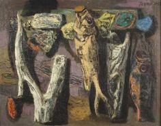 John Teyral: Still Life with Fish, 1952