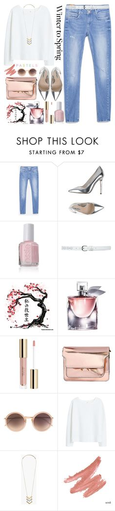 """Winter to Spring"" by grozdana-v ❤ liked on Polyvore featuring Zara, Karl Lagerfeld, M&Co, Lancôme, Marni, Linda Farrow, MANGO, Madewell, The Cambridge Satchel Company and Wintertospring"